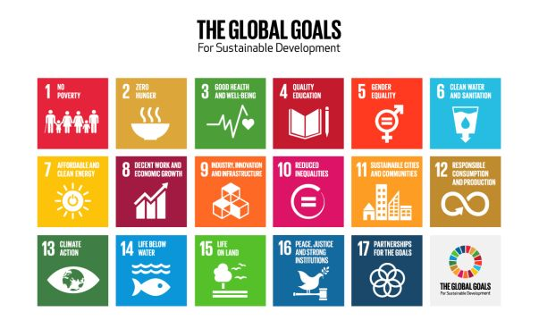 There is a Graphic with the 17 icons used to present the 17 Global Goals from the United Nations. Foto: Project Everyone