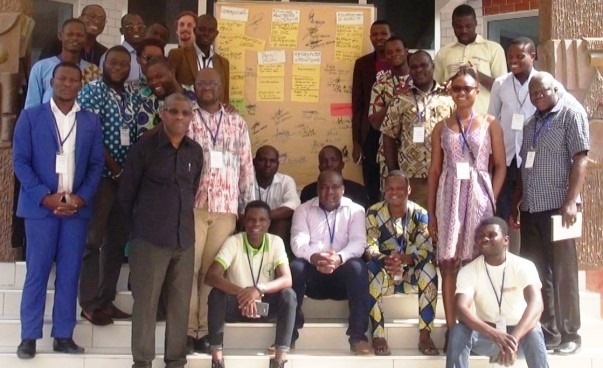 Representatives of the participating civil society organisations in Benin and the GIZ.